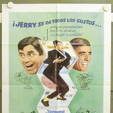 Cine: T04716 EL PESCADOR PESCADO JERRY LEWIS POSTER ORIGINAL USA 70X105 EN ESPAÑOL. Lote 6137685
