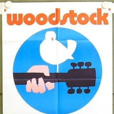 Cine: T04374 WOODSTOCK JIMI HENDRIX THE WHO POSTER ORIGINAL ALEMAN 60X84. Lote 6109294