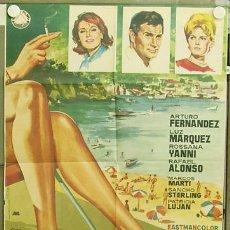 Cine: T04476 SOL DE VERANO ARTURO FERNANDEZ LUZ MARQUEZ POSTER ORIGINAL 70X100 ESTRENO. Lote 6114323