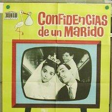 Cine: T04510 CONFIDENCIAS DE UN MARIDO LOPEZ VAZQUEZ AMPARO SOLER LEAL POSTER ORIGINAL 70X100 ESTRENO. Lote 6114376