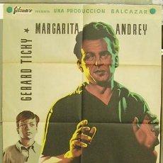 Cine: T04522 NUNCA ES DEMASIADO TARDE MARGARITA ANDREY GERARD TICHY POSTER ORIG 70X100 ESTRENO LITOGRAFIA. Lote 11431411