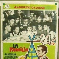 Cine: T04523 LA FAMILIA Y UNO MAS ALBERTO CLOSAS SOLEDAD MIRANDA MAC POSTER ORIGINAL 70X100 DE ESTRENO. Lote 11294130