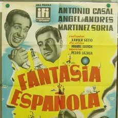 Cine: T04525 FANTASIA ESPAÑOLA ANTONIO CASAL ANGEL DE ANDRES POSTER ORIGINAL 70X100 DE ESTRENO LITOGRAFIA. Lote 9304902