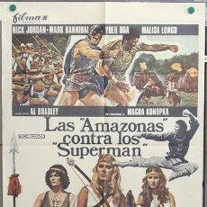 Cine: T04550 LAS AMAZONAS CONTRA LOS SUPERMAN POSTER ORIGINAL 70X100 DE ESTRENO. Lote 6120831