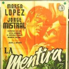 Cine: T04559 LA MENTIRA MARGA LOPEZ JORGE MISTRAL POSTER ORIGINAL 70X100 ESTRENO LITOGRAFIA. Lote 6122701