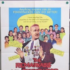 Cine: T04664 THE REMARKABLE MR PENNYPACKER CLIFTON WEBB POSTER ORIGINAL USA 70X105. Lote 6134648