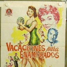 Cine: T04609 VACACIONES PARA ENAMORADOS CLIFTON WEBB JANE WYMAN CAROL LYNLEY POSTER ORIGINA 70X100 ESTRENO. Lote 6128687