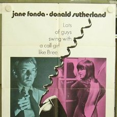 Cine: T04643 KLUTE JANE FONDA DONALD SUTHERLAND POSTER ORIGINAL USA 70X105. Lote 6131524