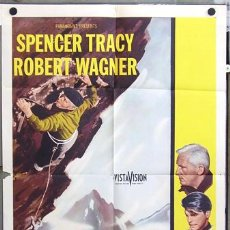 Cine: T04706 THE MOUNTAIN LA MONTAÑA SINIESTRA SPENCER TRACY POSTER ORIGINAL USA 70X105. Lote 7847858