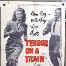 Cine: T04708 TERROR ON A TRAIN GLENN FORD POSTER ORIGINAL USA 70X105. Lote 6135818