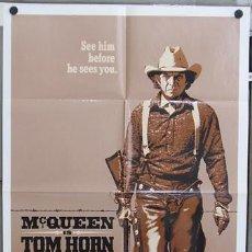 Cine: T04673 TOM HORN STEVE MCQUEEN POSTER ORIGINAL USA 70X105. Lote 38810435