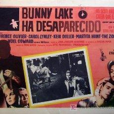 Cine: CAROL LYNLEY - BUNNY LAKE HA DESAPARECIDO - LAURENCE OLIVIER - ORIGINAL MEXICAN LOBBY CARD. Lote 13044917