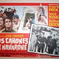 Cine: GREGORY PECK - LOS CAÑONES DE NAVARONE - DAVID NIVEN - BELICA - ORIGINAL MEXICAN LOBBY CARD. Lote 13102819