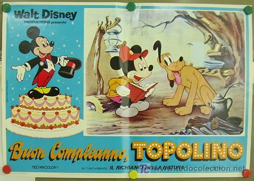 UC07D EL CUMPLEAÑOS DE MICKEY MOUSE WALT DISNEY SET DE 8 POSTERS ITALIANO 47X68 (Cine - Posters y Carteles - Infantil)