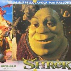 Cine: YD99D SHREK ANDREW ADAMSON ANIMACION SET DE 8 POSTERS ITALIANO 47X68. Lote 6187422