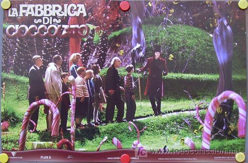 QB51 CHARLIE Y LA FABRICA DE CHOCOLATE TIM BURTON JOHNNY DEPP SET DE 6 POSTER ITALIANOS 47X68 (Cine - Posters y Carteles - Infantil)