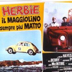 Cine: RF06D HERBIE UN VOLANTE LOCO VOLKSWAGEN AUTOMOVILISMO WALT DISNEY SET 8 POSTERS ORIG ITALIANOS 47X68. Lote 8033319