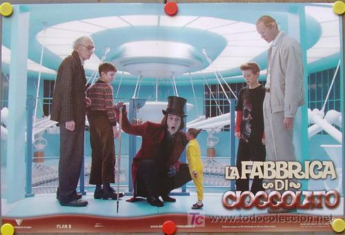 Cine: QB51 CHARLIE Y LA FABRICA DE CHOCOLATE TIM BURTON JOHNNY DEPP SET DE 6 POSTER ITALIANOS 47X68 - Foto 3 - 22753040
