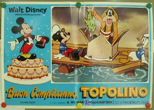 Cine: UC07D EL CUMPLEAÑOS DE MICKEY MOUSE WALT DISNEY SET DE 8 POSTERS ITALIANO 47X68 - Foto 3 - 21347614