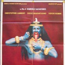 Cine: T04794 NIRVANA CHRISTOPHER LAMBERT GABRIELE SALVATORES POSTER ORIGINAL ITALIANO 100X140. Lote 6231937