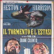 Cine: YP09D EL TORMENTO Y EL EXTASIS CHARLTON HESTON POSTER ORIGINAL ITALIANO 100X140. Lote 11107635