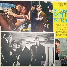 Cine: SUSAN GEORGE - MICHAEL YORK - EL CASO DE PETER STRANGE - JEREMY KEMP - ORIGINAL MEXICAN LOBBY CARD. Lote 13102854
