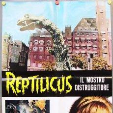 Cine: TO33D REPTILICUS TERROR POSTER ORIGINAL 68X94 ITALIANO. Lote 12110040