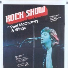 Cine: T04839 ROCKSHOW PAUL MCCARTNEY WINGS POSTER ORIGINAL ITALIANO 100X140. Lote 12110041