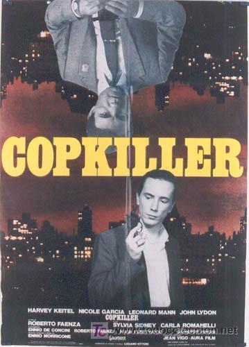 T04838 COPKILLER HARVEY KEITEL JOHNNY ROTTEN SEX PISTOLS GIALLO POSTER ORIGINAL ITALIANO 100X140 (Cine - Posters y Carteles)
