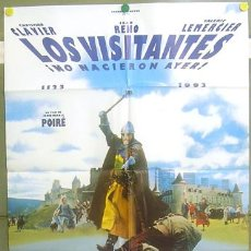 Cine: T04905 LOS VISITANTES NO NACIERON AYER JEAN RENO CHRISTIAN CLAVIER POSTER ORIGINAL 70X100 ESTRENO. Lote 126886228