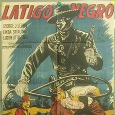 Cine: OZ84D LATIGO NEGRO EL ZORRO GEORGE J. LEWIS PIÑANA POSTER ORIGINAL 70X100 ESTRENO LITOGRAFIA. Lote 6263189