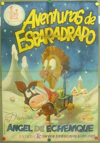 T04938 AVENTURAS DE ESPARADRAPO ANIMACION POSTER ORIGINAL 70X100 DE ESTRENO LITOGRAFIA (Cine - Posters y Carteles - Infantil)