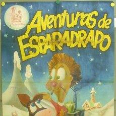 Cine: T04938 AVENTURAS DE ESPARADRAPO ANIMACION POSTER ORIGINAL 70X100 DE ESTRENO LITOGRAFIA. Lote 13108123