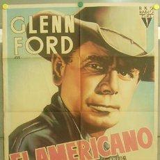 Cine: T04932 EL AMERICANO GLENN FORD WILLIAM CASTLE MCP POSTER ORIGINAL 70X100 ESTRENO LITOGRAFIA. Lote 12669124