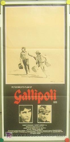 YZ93D GALLIPOLI MEL GIBSON PETER WEIR POSTER ORIGINAL AUSTRALIANO 34X71 (Cine - Posters y Carteles - Bélicas)
