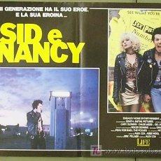 Cine: T04961 SID Y NANCY GARY OLDMAN SID VICIOUS SEX PISTOLS SET DE 6 POSTER ITALIANOS 47X68. Lote 7633055
