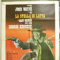 Cine: T04988 LA SOGA DE LA HORCA JOHN WAYNE POSTER ITALIANO 100X140. Lote 6270856