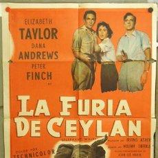 Cine: YX94D LA SENDA DE LOS ELEFANTES ELIZABETH TAYLOR POSTER ORIGINAL ARGENTINO 75X110. Lote 6253462