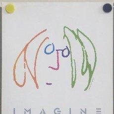 Cine: T05017 IMAGINE JOHN LENNON THE BEATLES PEQUEÑO POSTER ORIGINAL ITALIANO 29X39. Lote 6271568