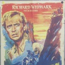 Cine: T05016 LA LEY DEL TALION RICHARD WIDMARK DELMER DAVES POSTER ORIGINAL 70X100 ESTRENO. Lote 13158818