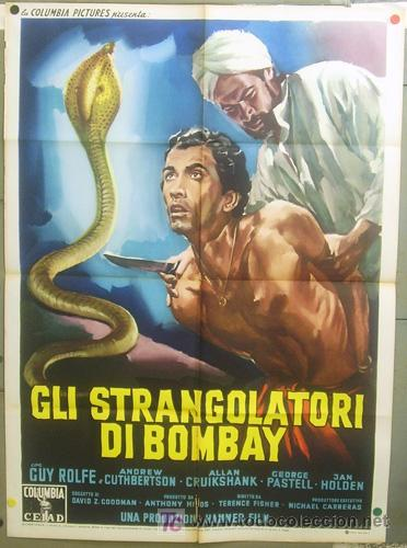 T05096 THE STRANGLERS OF BOMBAY HAMMER TERENCE FISHER POSTER ORIGINAL 100X140 ITALIANO (Cine - Posters y Carteles - Terror)