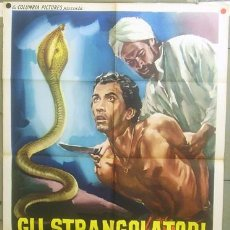 Cine: T05096 THE STRANGLERS OF BOMBAY HAMMER TERENCE FISHER POSTER ORIGINAL 100X140 ITALIANO. Lote 17244759