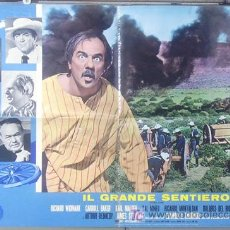 Cine: T05026 EL GRAN COMBATE JOHN FORD RICHARD WIDMARK KARL MALDEN POSTER ORIGINAL ITALIANO 68X94. Lote 6277117