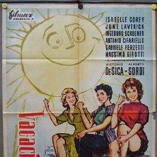 Cine: T05066 VACACIONES EN ITALIA DE SICA SORDI COREY MCP POSTER ORIGINAL 70X100 ESTRENO. Lote 6286816