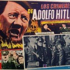 Cine: ADOLPH HITLER - LOS CRIMENES DE ADOLFO HITLER - FRANCISCO FRANCO - ORIGINAL MEXICAN LOBBY CARD. Lote 13142332
