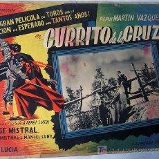 Cine: TOROS - CURRITO DE LA CRUZ - PEPIN MARTIN VAZQUEZ - LUIS LUCIA - ORIGINAL MEXICAN LOBBY CARD. Lote 13151886