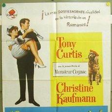 Cine: T05156 SALVAJE Y ENCANTADOR TONY CURTIS CHRISTINE KAUFMANN POSTER ORIGINAL 70X100 ESTRENO. Lote 6347070