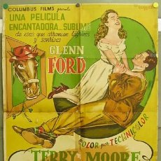 Cine: T05157 TIO WILLIE GLENN FORD TERRY MOORE POSTER ORIGINAL 70X100 DE ESTRENO LITOGRAFIA. Lote 6347357
