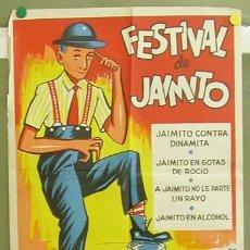 Cine: T05166 FESTIVAL DE JAIMITO LARRY SEMON POSTER ORIGINAL 50X70 ESTRENO LITOGRAFIA. Lote 6347986
