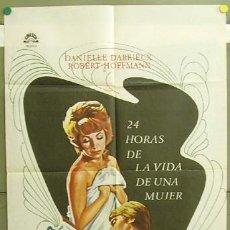 Cine: T05171 24 HORAS DE LA VIDA DE UNA MUJER DANIELLE DARRIEUX ROBERT HOFFMANN POSTER ORIGINAL 70X100. Lote 6348186